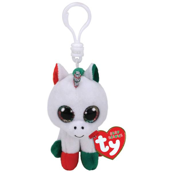 Candy Cane Boo Christmas Unicorn Clip