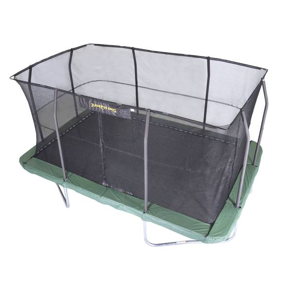 YJ USA CORP Rectangle Trampoline With 8 Poles
