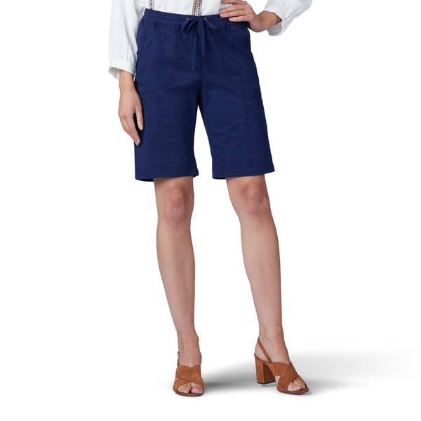 83dc1a1b87 Lee Women's Plus Size Flex to Go Pull On Bermuda Shorts