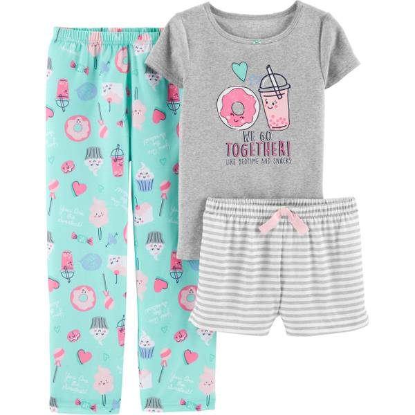 9d20b830c Carter's 3-Piece Girls Donut PJs