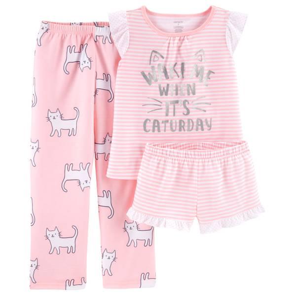 37c233dd07db Carter s 3-Piece Girls Cats PJs