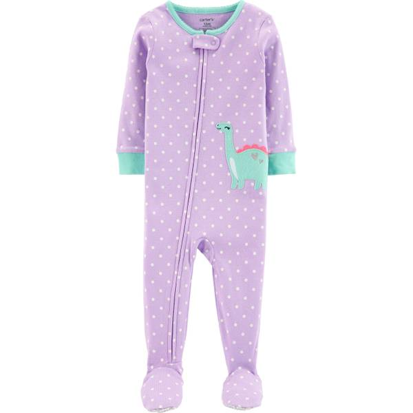 b8ab2bdf7 Carter's Girls Dino Footed Snug Fit PJs