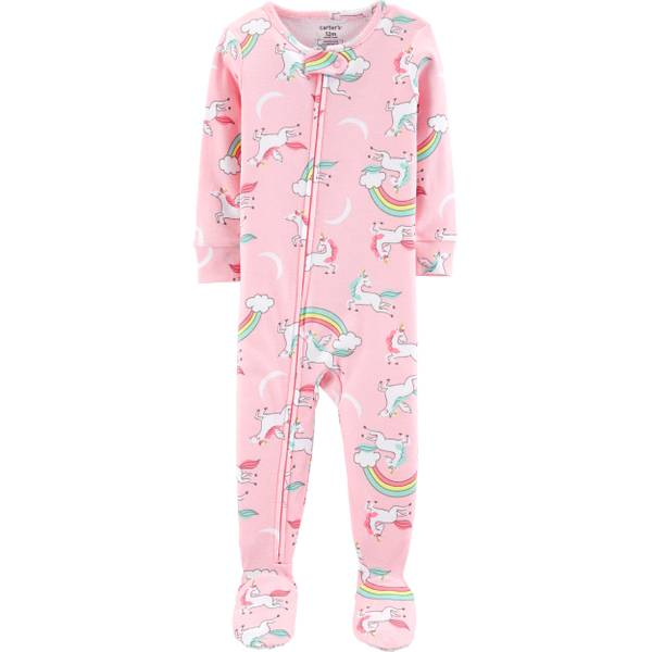 ead72fd44eda Carter s Girls Unicorn Snug Fit Footed PJs
