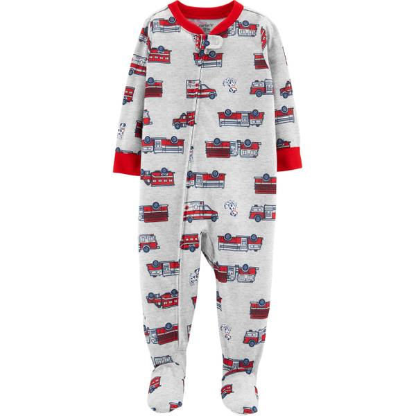 66c187303 Carter's Boys Rescue Firetruck Footed PJs