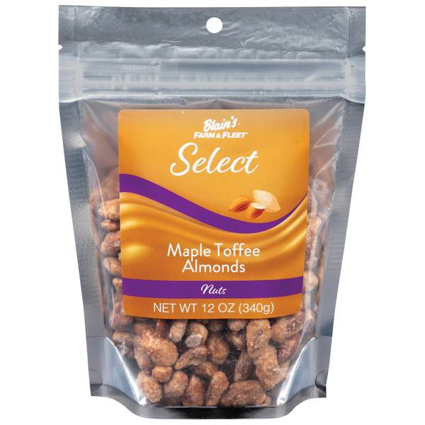 Select Maple Toffee Almonds 12 oz