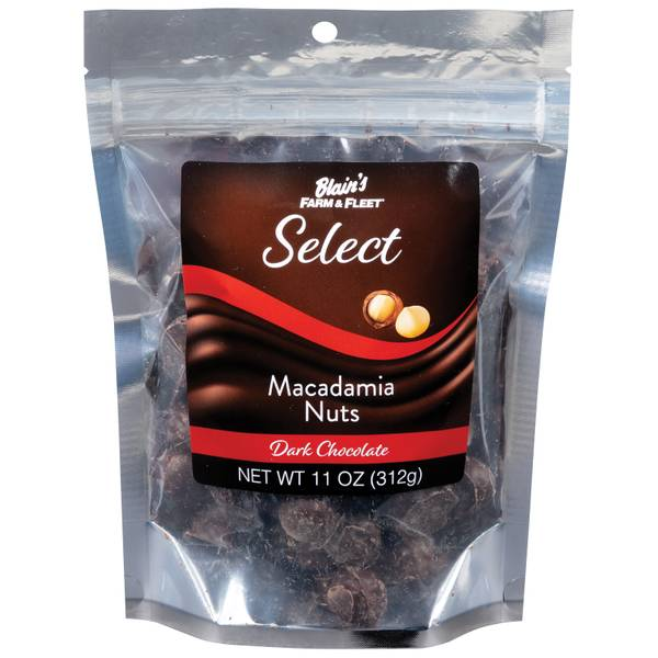 Select Dark Chocolate Macadamia Nuts 11 oz