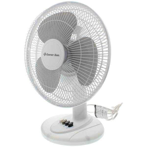 Comfort Zone 12 Quot Oscillating Table Fan