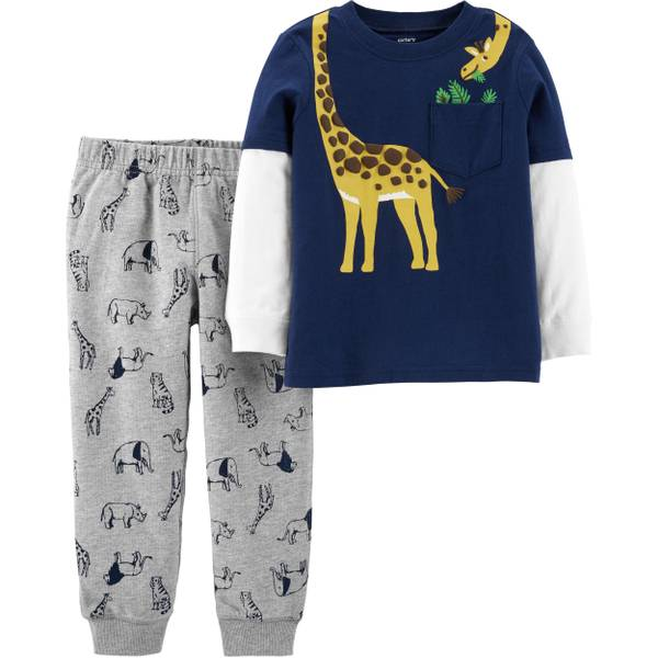 f9af439af Carter's Toddler Boy's 2 Piece Giraffe Neck Pant Set