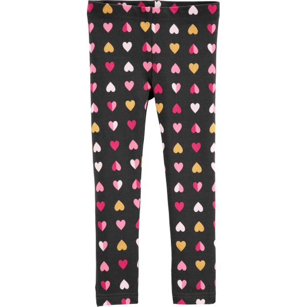 967deeb82148f Carter's Toddler Girl's Glitter Heart Leggings