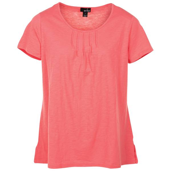 d176ec85c41 Erika Women s Plus Size Jordyn Short Sleeve Slub Pintuck Top