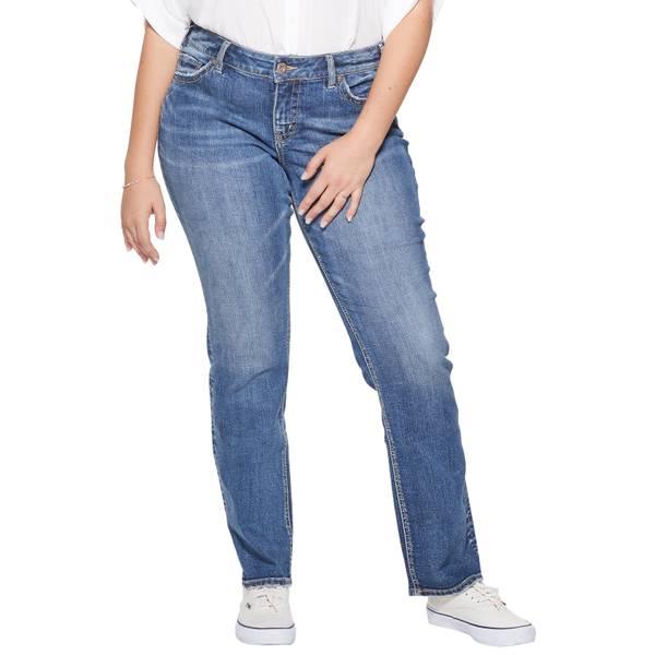 6231801b072d Silver Jeans Women's Plus Size Suki Straight Leg Pants