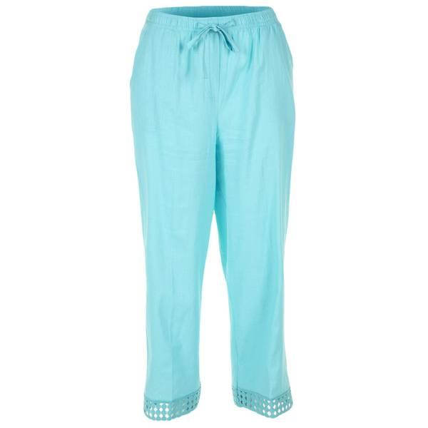 32c5fbad806 Cathy Daniels Women s Plus Size Pull-On Crochet Leg Capri Pants