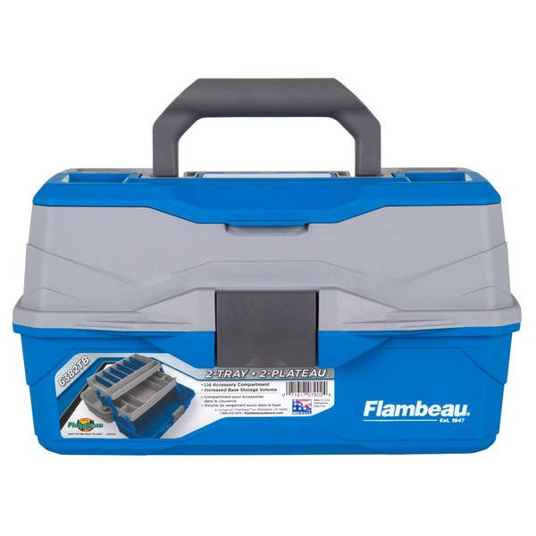 Flambeau 2 Tray Blue/Gray Tackle Box