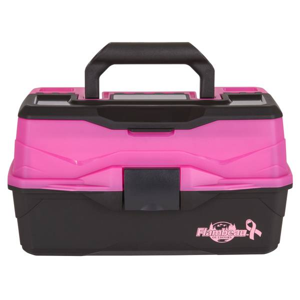 Flambeau 2 Tray Frost Pink/Black Tackle Box
