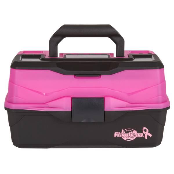 Flambeau 2 Tray Frost Pink/Black Tackle Box
