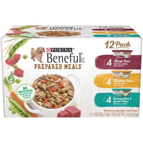 Purina 10 Oz Beneful Prepared Meals Variety Dog Food 12 Count
