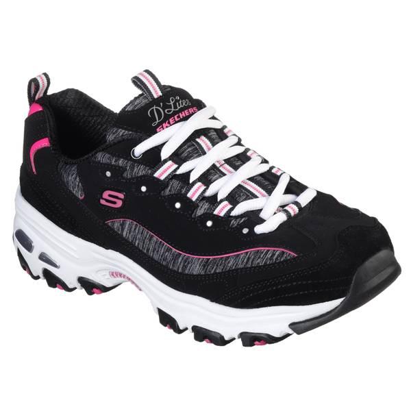 pink skechers for women