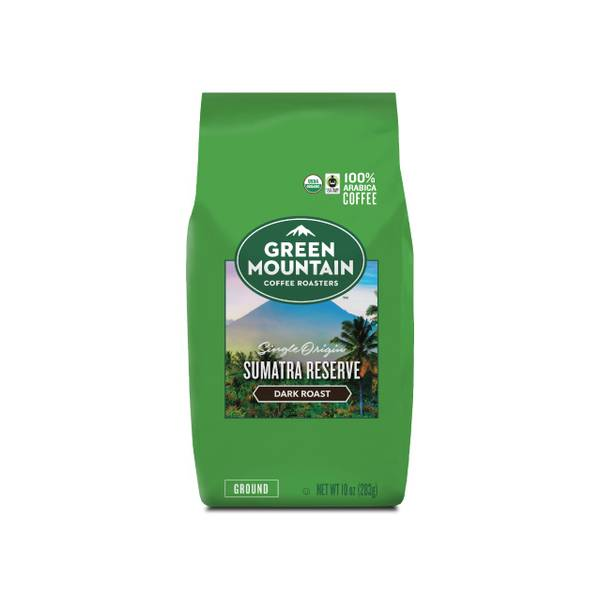 Photo of 10 oz Green Mountain Coffee Fair Trade Ground Sumatra Reserve