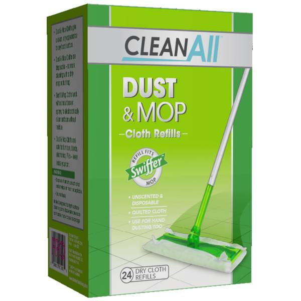 24-Count Dust & Mop Dry Cloth Refill