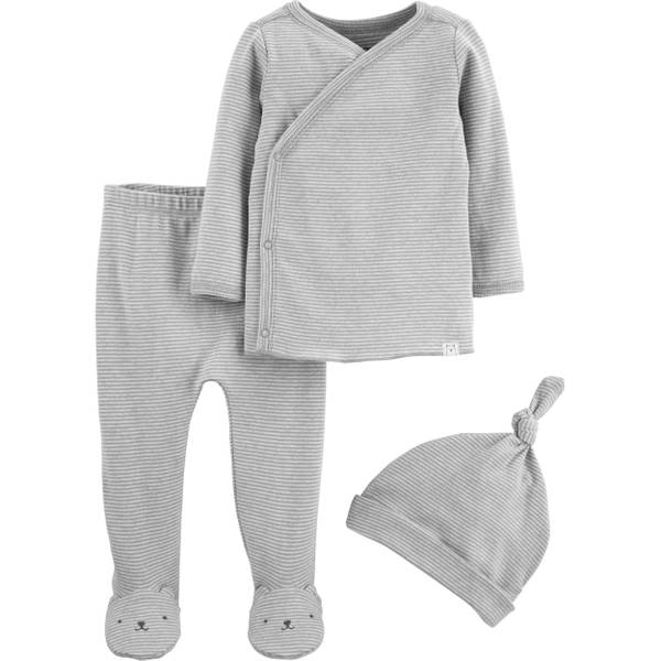 Photo of Infant Kids' Neutral 3 Piece Footed Set