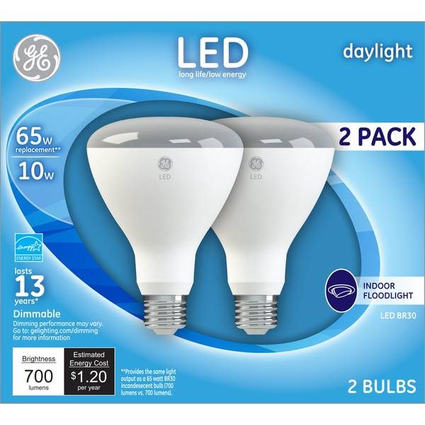 Ge 2 Pack 10 Watt Led Daylight Dimmable