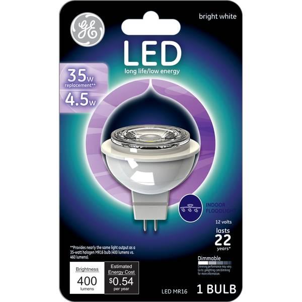 Energy Efficient Flood Lights Indoor: GE LED 4.5W Indoor Flood Light