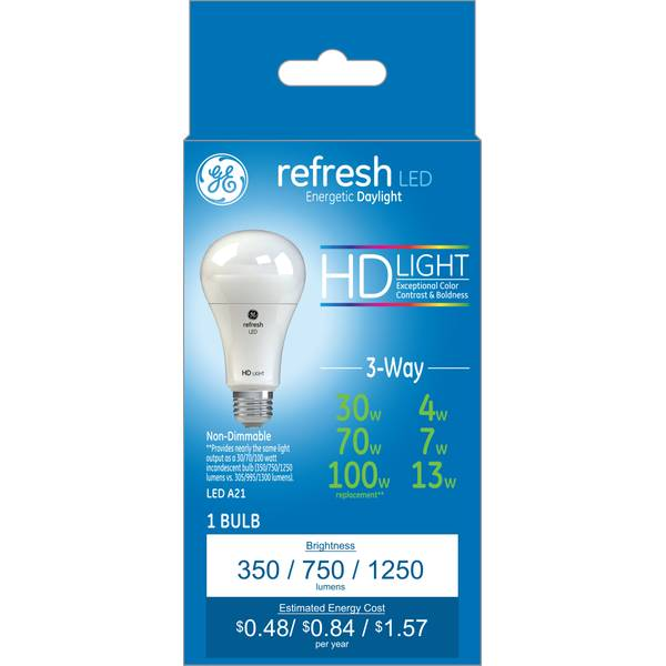 Led Refresh A21 3 Way Light Bulbs