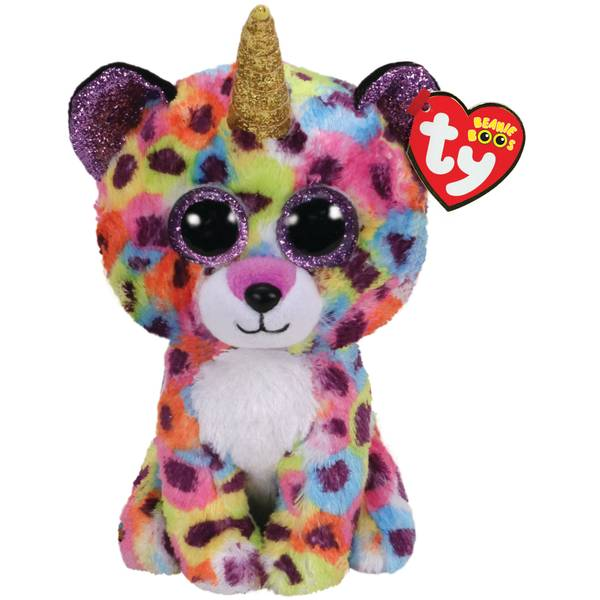 bcbdb2403 Ty Beanie Boo-Giselle Leopard with Horn