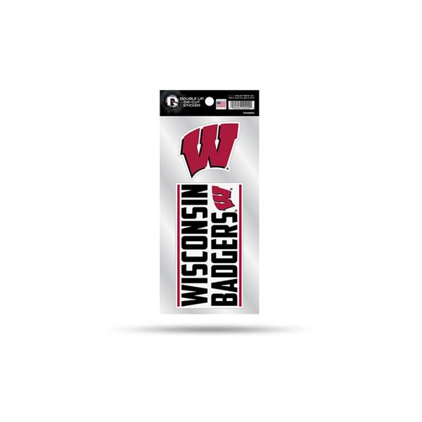 Photo of Wisconsin Badgers Double Up Die Cut Decal