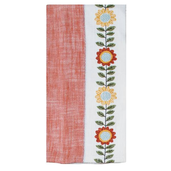 Autumn In Bloom Tea Towel