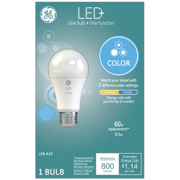 Led 60 Watt Replacement Color Changing Soft White Daylight A19 Light Bulb