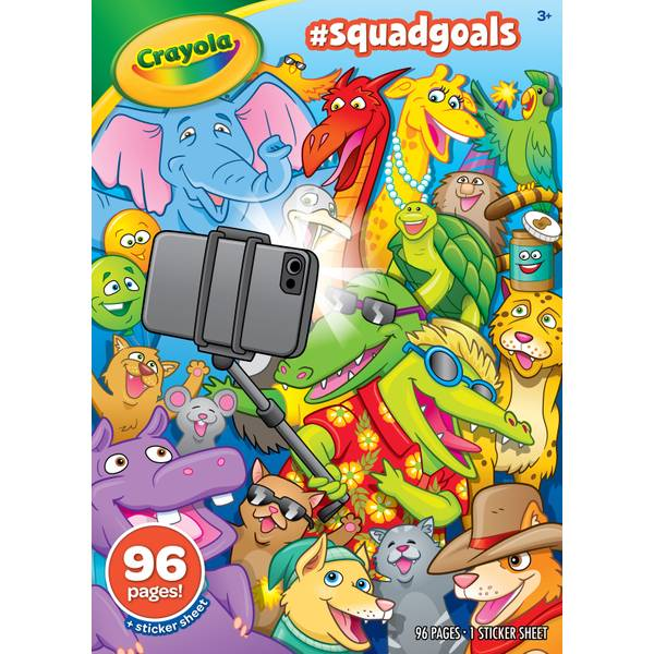 96 Page Squad Goals Coloring Book