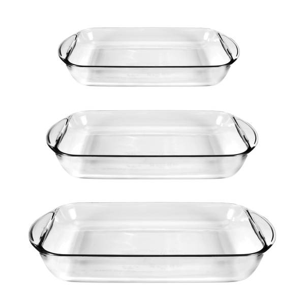 Anchor Hocking 3 Piece Rectangular Glass Bakeware Set 91079ahg17 Blain S Farm Fleet