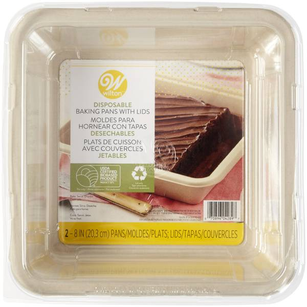 Wilton 2 Pack Disposable 8 Quot Square Pan With Lid