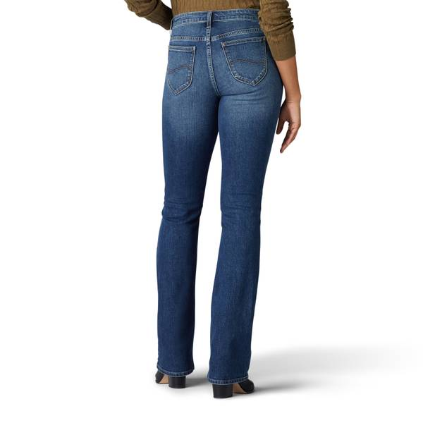Riders by Lee Womens Irregular Classic Fit Mid Rise Straight Leg Jeans Pants