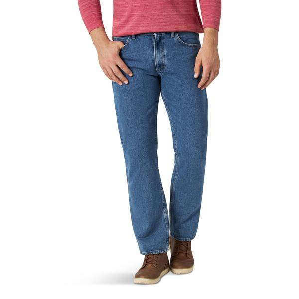 Lee Men/'s Relaxed Fit Jeans Straight Leg Comfort Stretch Size 38x32