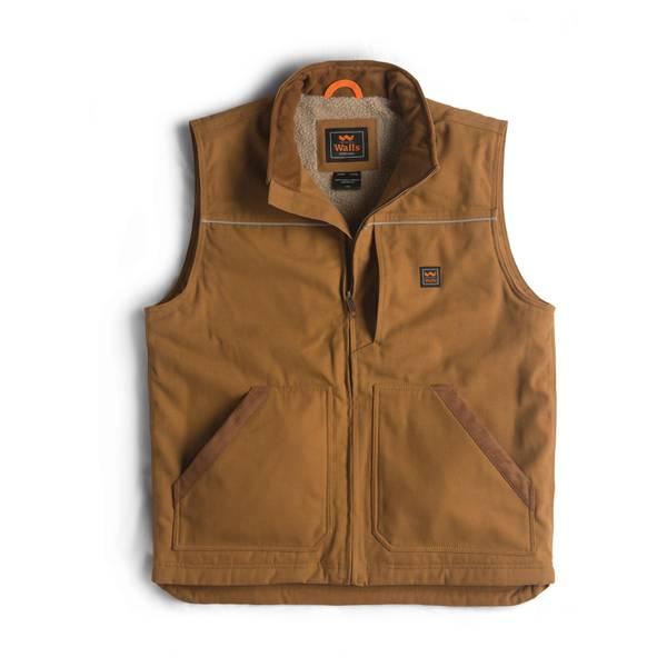 Walls Men's Coleman Sherpa-Lined Duck Vest