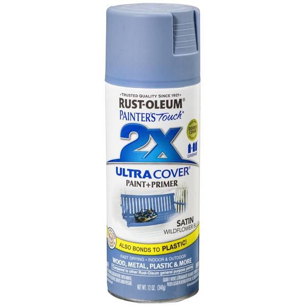 2x Satin Wildflower Blue Spray Paint