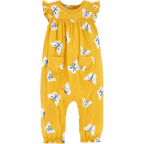 Photo of Infant Girl's Butterfly Jersey Jumpsuit