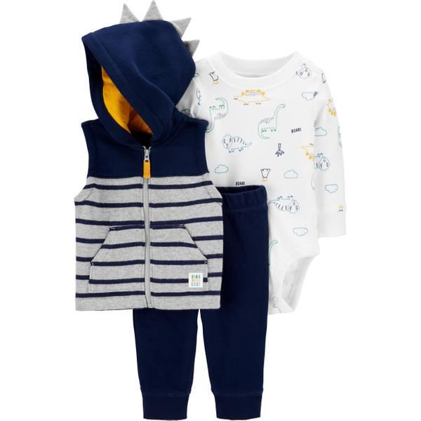 Photo of Infant Boy's 3-Piece Fleece Little Vest Set