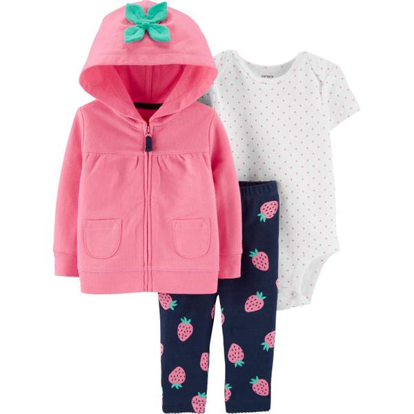 Carter/'s 3 Piece Baby Girls outfit BUTTERFLY CHECK FOR SIZE