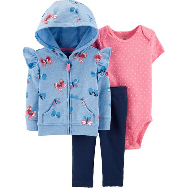 Photo of Infant Girl's 3-Piece Butterfly Little Jacket Set