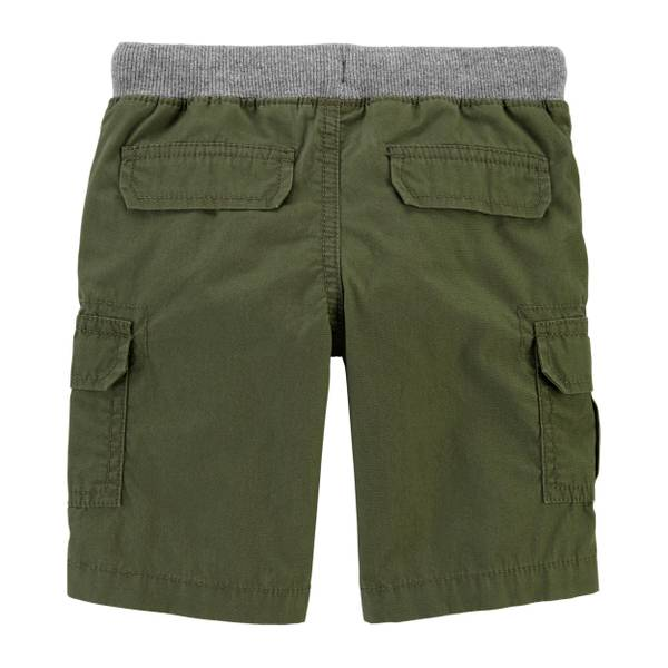 Toddler Boy Carters Cotton Poplin Pull on Cargo Pants Blue Tan Green 5T