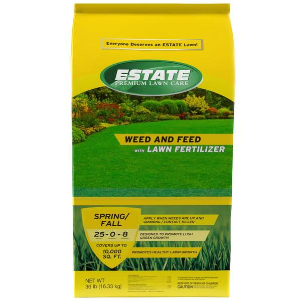 Estate 10 000 Sq Ft 36 Lb Weed And Feed With Lawn Fertilizer 25 0 8 Blain S Farm Fleet