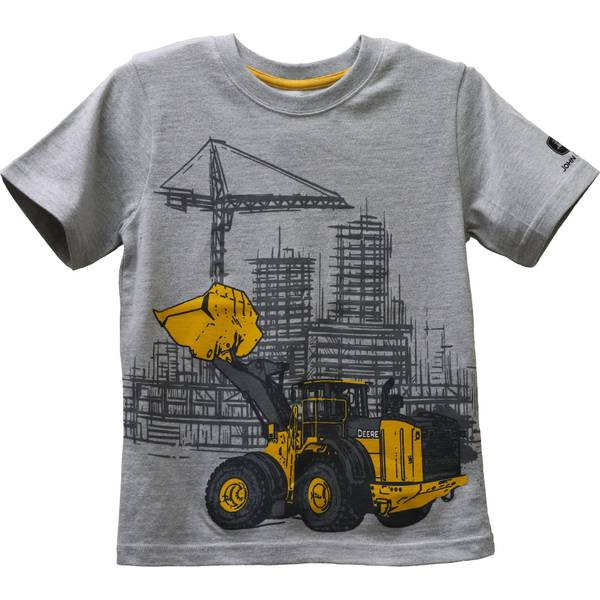 John Deere Little Boy's Construction Tee, Grey, 5 ...