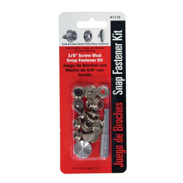 "3/8"" Screw Stud Snap Fastener Kit"