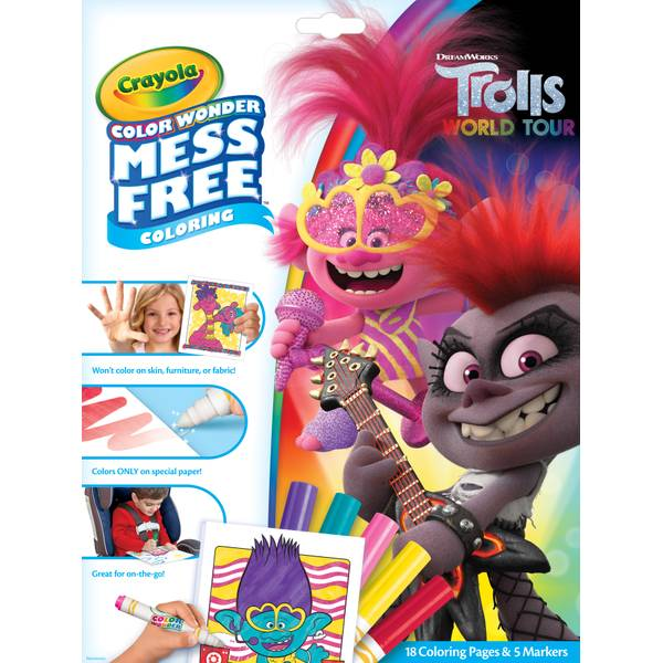 Crayola Color Wonder Trolls Coloring Pages - 75-7117 Blain's Farm & Fleet