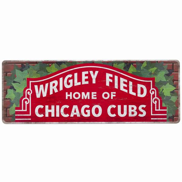 Chicago Cubs Wood Sign