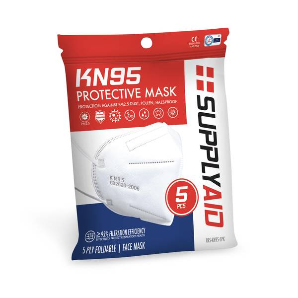 5-Pack KN95 Protective Face Masks