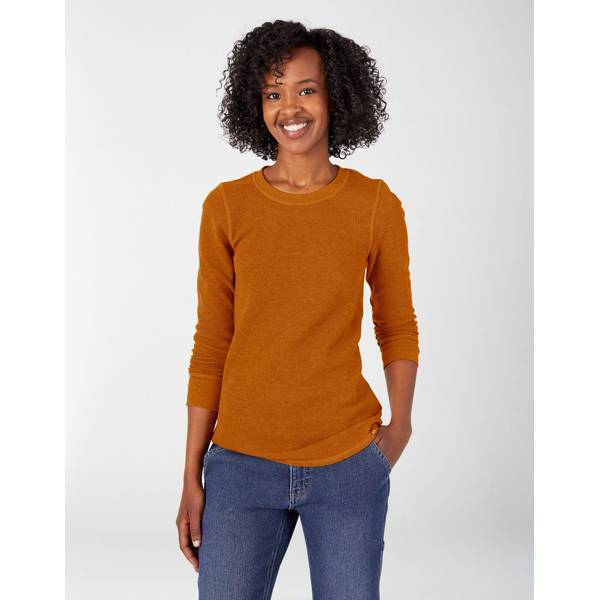 Dickies Women's Long Sleeve Crew Neck Thermal Shirt
